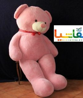 عروسک خرس 2 متری صورتی