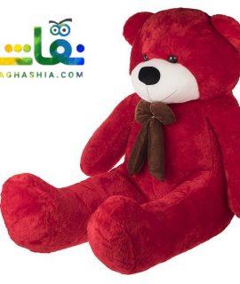عروسک خرس 2 متری قرمز