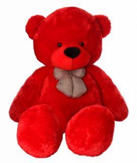 عروسک خرس عاشق 170 سانتی متری قرمز