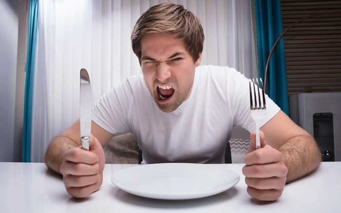 احساس گرسنگی