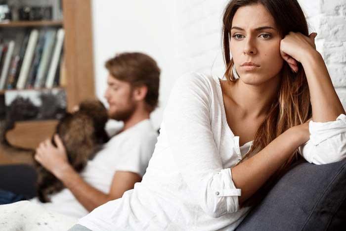 بی توجهی همسر به زن